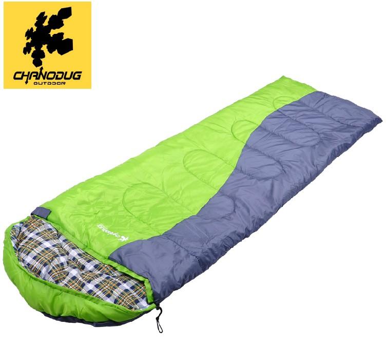CHANODUG/ genuine Outdoor camping sleeping bag double envelope sleeping bag single cotton spring and autumn hiking sleeping bag(China (Mainland))