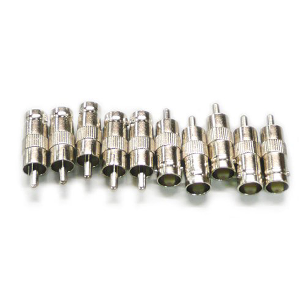 USA Delivery 10Pcs BNC Female TO RCA Male Plug COAX Adapter Connector(China (Mainland))