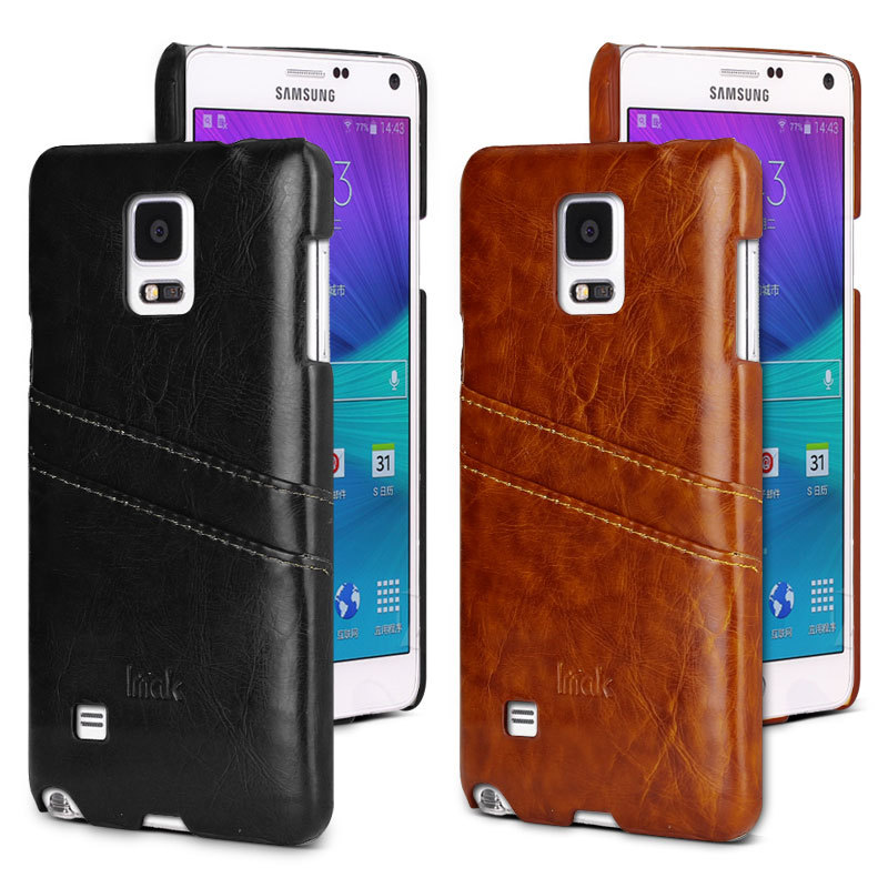 For Samsung Galaxy Note4 leather + PC Wallet Credit card pocket cover phone case for Samsung Galaxy Note 4 N9100 free shipping(China (Mainland))