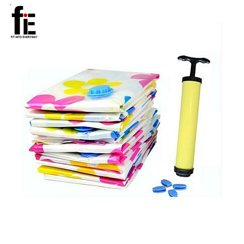 11 psc/lot 2015 New High Quality Easy & Reusable Vacuum Storage Bag/Vacuum Compressed Bag for heavy winter clothes & quilt(China (Mainland))
