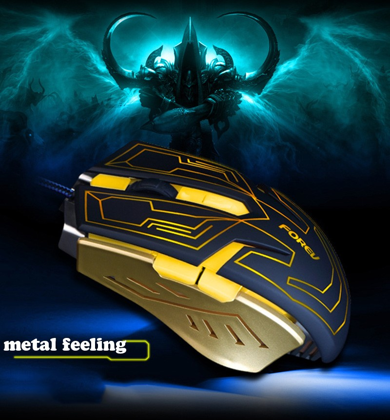 FOREV Game Mouse Professional 4000 DPI USB Gaming Mouse LED Optical Gaming Mouse Mice for Computer PC Laptop Mause Gamer