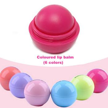 Мяч бальзам для губ помада, Органический ингредиенты защитник сладкий вкус фрукты украсьте макияжа помада для губ сделано красоты