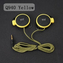 ShiniQ940 Free Shipping Headphones 3.5mm Headset EarHook Earphone For Mp3 Player Computer Mobile Telephone Earphone Wholesale(China (Mainland))