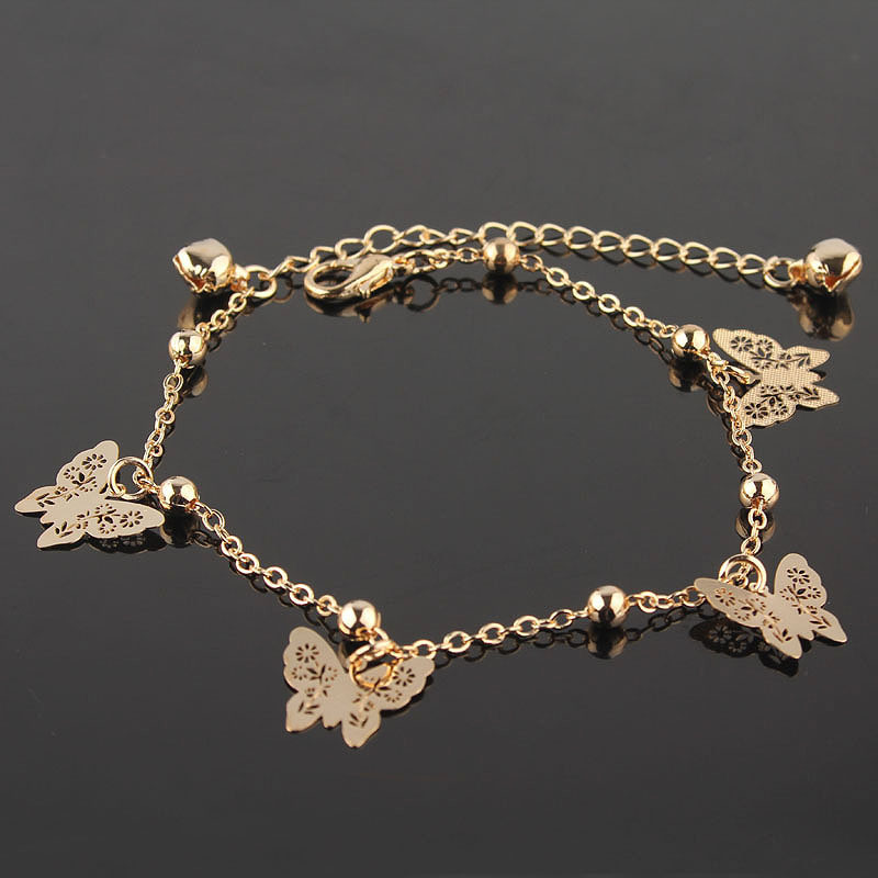 New Accessories Designer butterfly anklet bracelet women fashion beach foot chain girl love ankle bracelet on