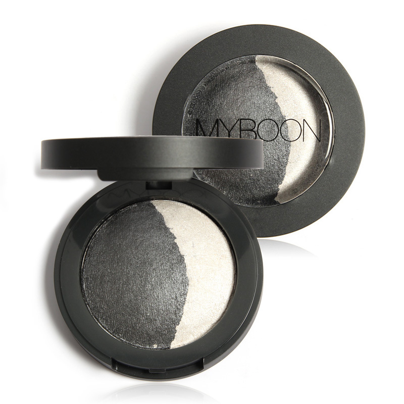 MYBOON Baked Eyeshadow Two Shade in a Palette Baked Eye Shadow Ultra-fine Mineral Texture 8 Colors Optional(China (Mainland))