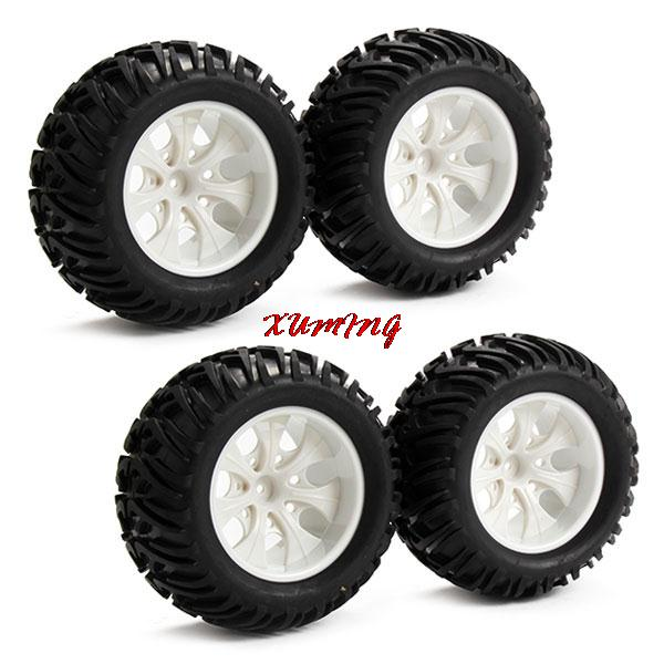 White Wheels on White Truck Truck 7 Spoke Wheel Rims