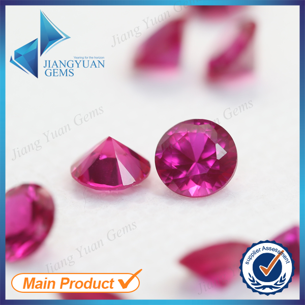 Synthetic 1mm round cut 5# ruby gemstone in jewelry(China (Mainland))