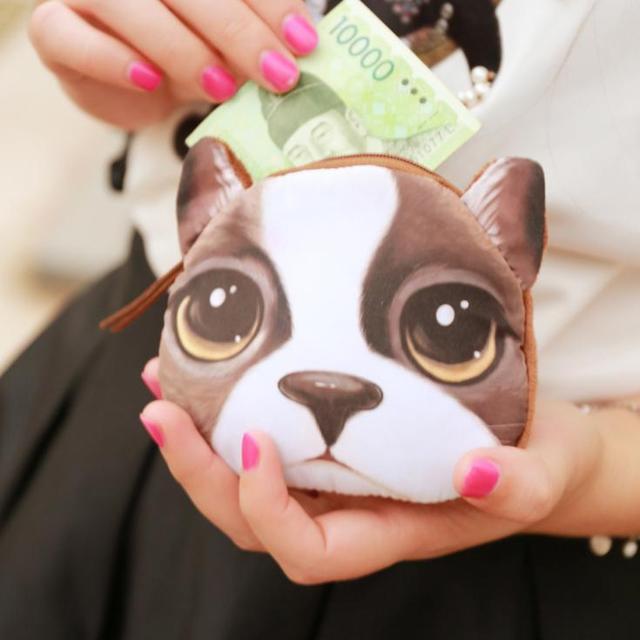 Новинка в розницу или смешивать оптовая продажа собака монеты бумажник животных кошельки ...
