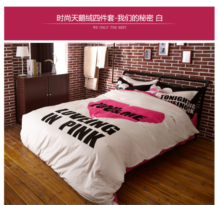 Popular royal velvet duvet buy cheap royal velvet duvet - Black white pink comforter ...