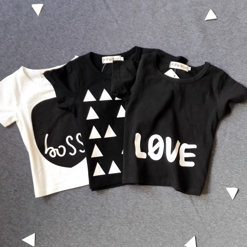2016 promotion collection of summer spring autumn baby boy girl cotton single T -shirt 11 styles children's clothing ACLTY001(China (Mainland))