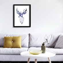 Simple Art Picture Oil Painting Wallpaper Abstract Reindeer Canvas Painting for Home Office Decor Decal Crafts(China (Mainland))