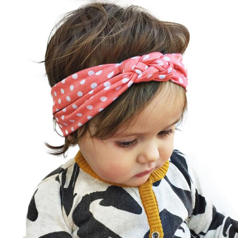 2016 Fashion Girls Dot Cross Headwear Kids Girls Soft Cotton Head Band Accessories For 0-10 Years Kids Girls Photo Gifts Elegant(China (Mainland))