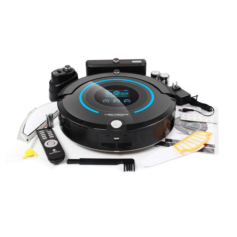 (Ship From USA)Multifunctional Automatic Vacuum Cleaner (Sweep,Vacuum,Mop,Sterilize),Schedule,Self Charge,Remote Contro,LCD(China (Mainland))
