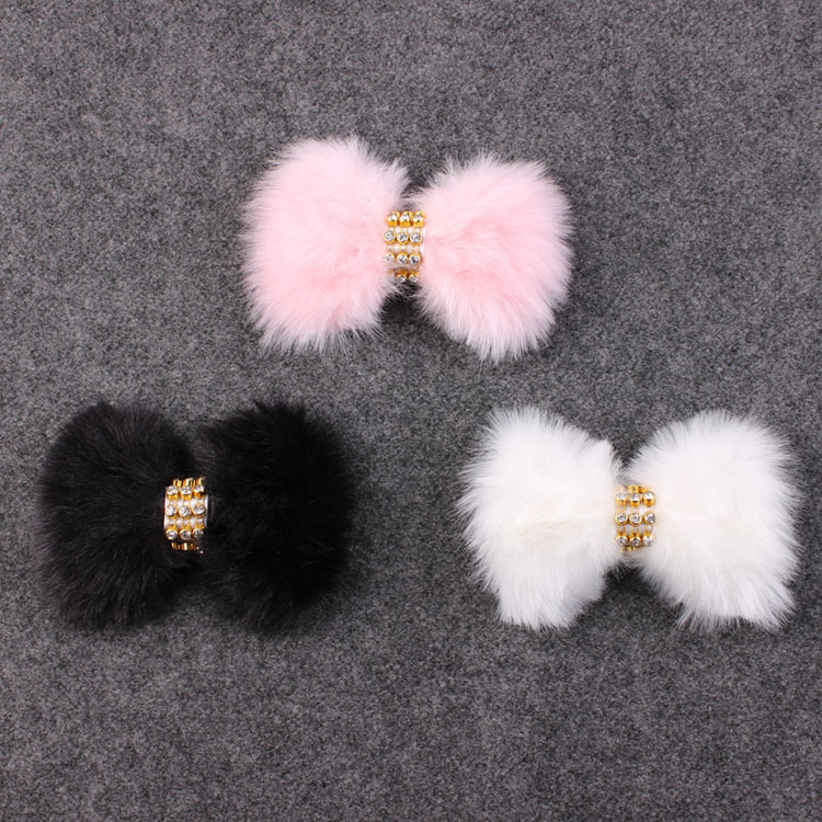 1PC Newborn Rabbit Fur bow Headband for Infant Girl Hair Accessories Elegant FUR bows clip hair band Photography Prop YM6105(China (Mainland))