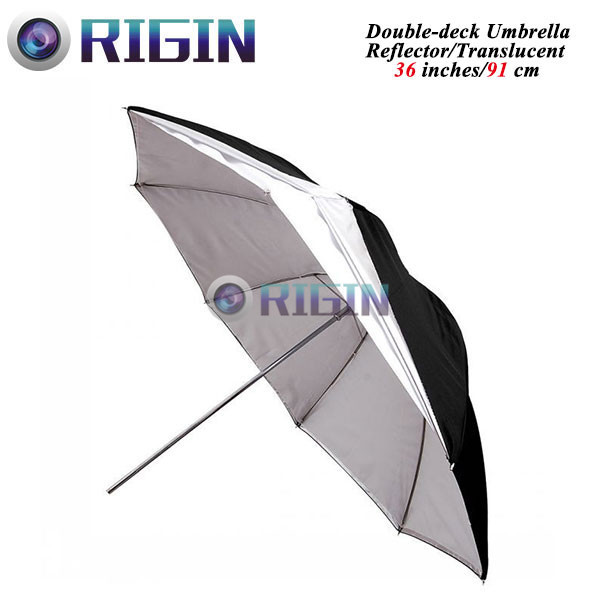 36 96cm double-deck umbrella Photo Studio Flash Light Grained double-deck Umbrella<br><br>Aliexpress