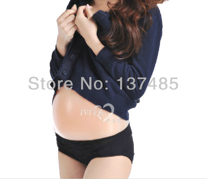 free shipping high quality comfortable realistic silicone artificial belly,fake belly for false pregnancy for 2-4 month<br>