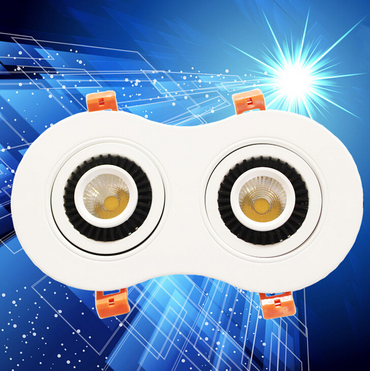 Free Shipping Dimmable 20W  warm white/white/ cold white COB Recessed led down light 360angle rotating AC85-265V CE&ROHS