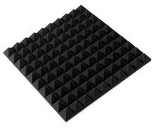20 шт. 50 * 50 * 5 см студия черный пирамида акустическая пена панели звуконепроницаемые губка