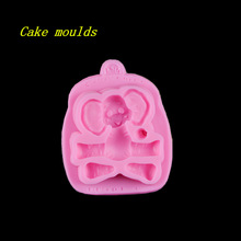Buy 118*97*20mm cartoon elephant shape silicone mold fondant cake chocolate decoration mould baking tools for $5.69 in AliExpress store