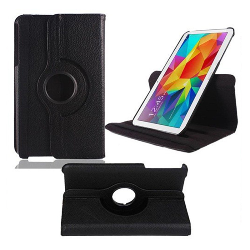 For Samsung Galaxy Tab Pro 10.1 Inch T520 Tablet Cover Litchi PU Leather 360 Degree Rotating Tablet Case Standing Cover(China (Mainland))