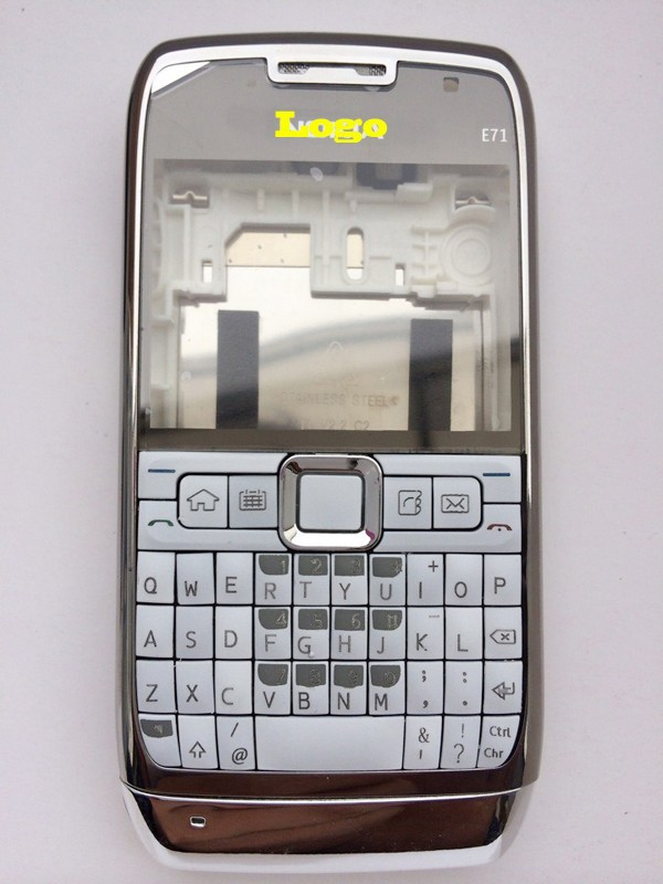 White NEW ARRIVAL 100% Brand New FULL Housing Case Cover With Logo For Nokia E71 + Buttons + Keypads Free Shipping(China (Mainland))
