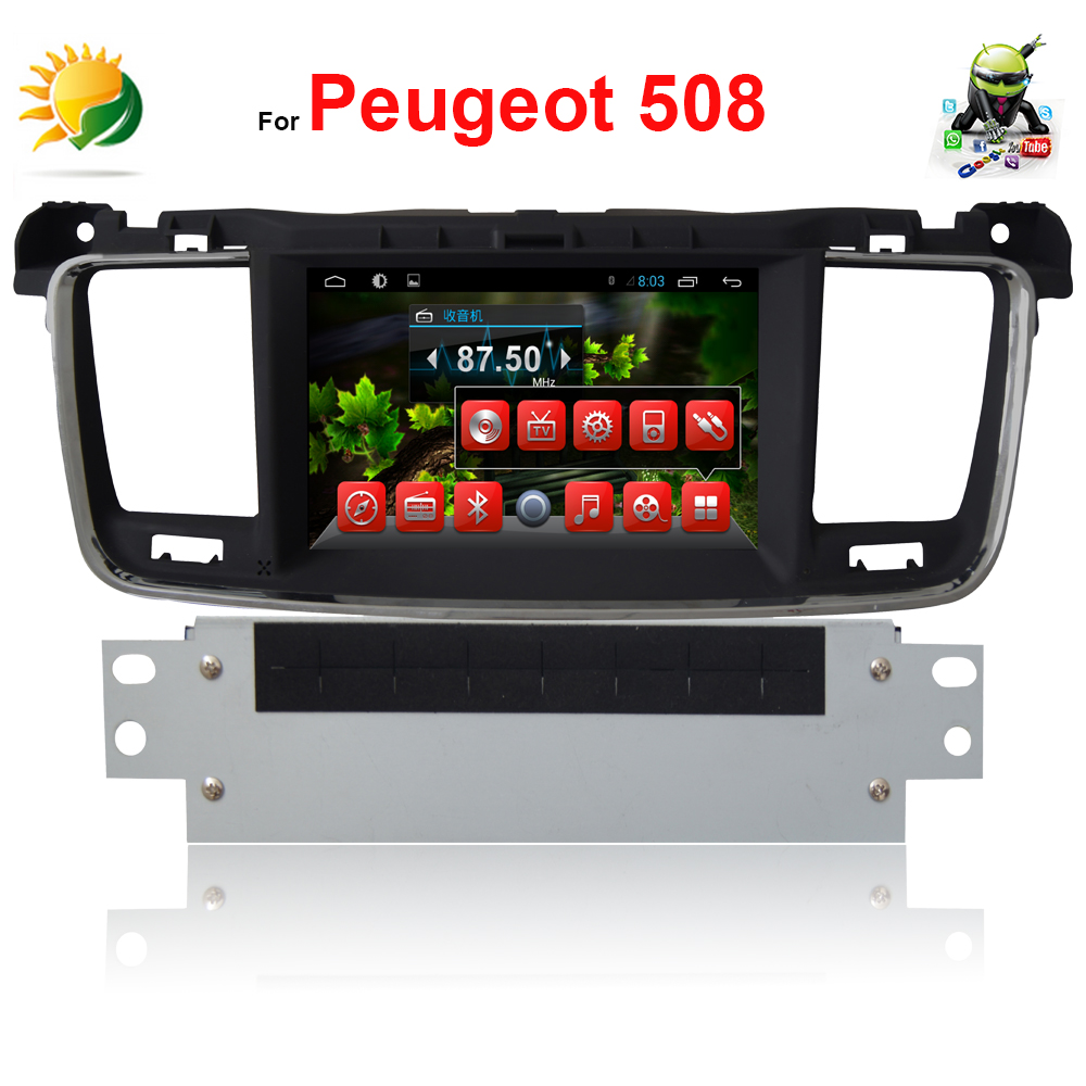 2 din car dvd gps for Peugeot 508 android car autoradio 3G WIFI MP3 Audio Navigation touch screen headrest car dvd player(China (Mainland))