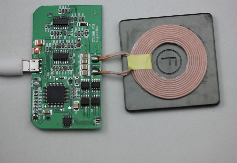 qi wireless charger PCBA sample wireless charging Circuit board with the coil wireless charging accessory DIY wireless charger(China (Mainland))