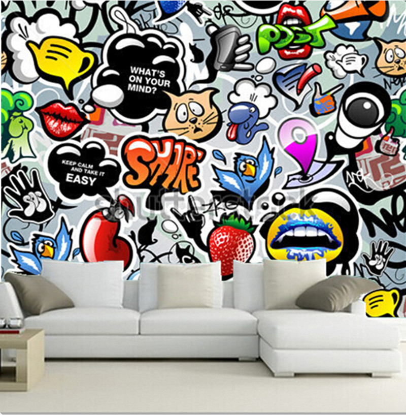 Popular all wall paper buy cheap all wall paper lots from - Graffitis en papel ...