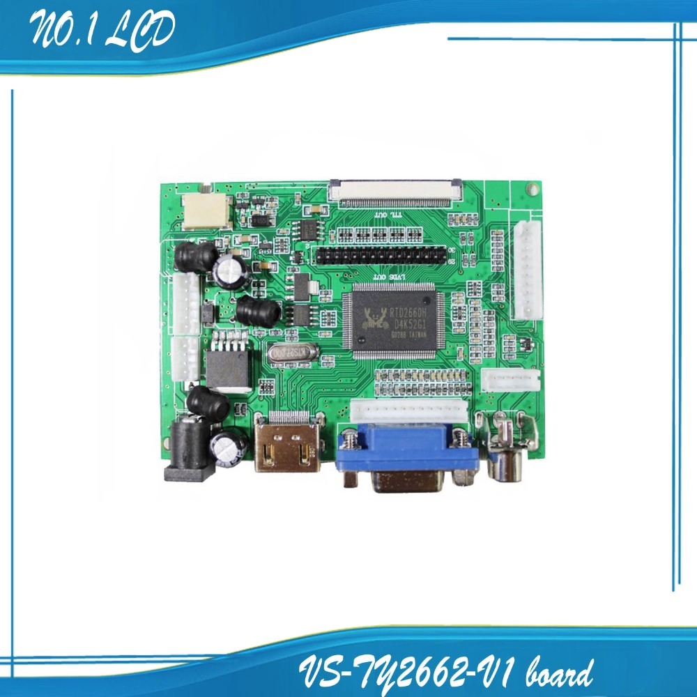 LCD Display TTL LVDS Controller Board HDMI VGA 2AV 50PIN for AT070TN90 92 94 Support Automatically VS-TY2662-V1(China (Mainland))