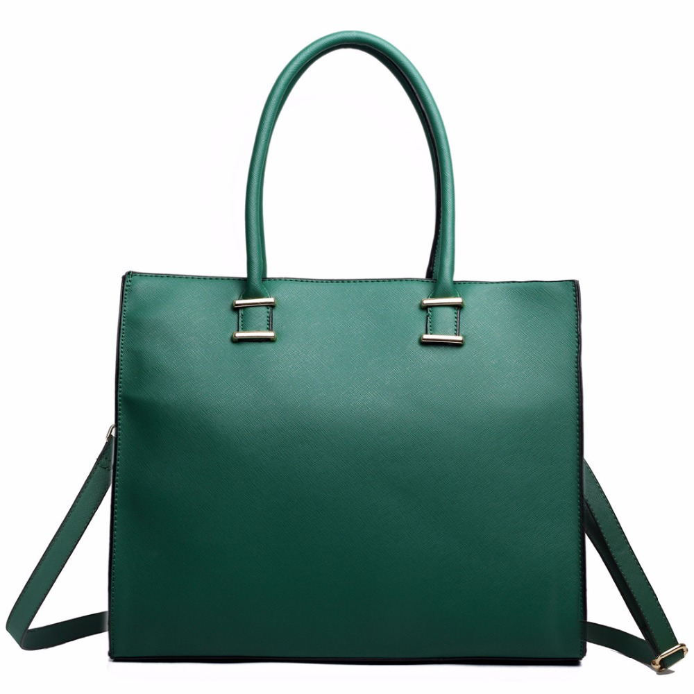 Mujeres del diseñador de la celebridad de cuero grande A4 libro cuaderno iPad Laptop verde mochila de hombro del totalizador del bolso de mano L1509 GN(China (Mainland))