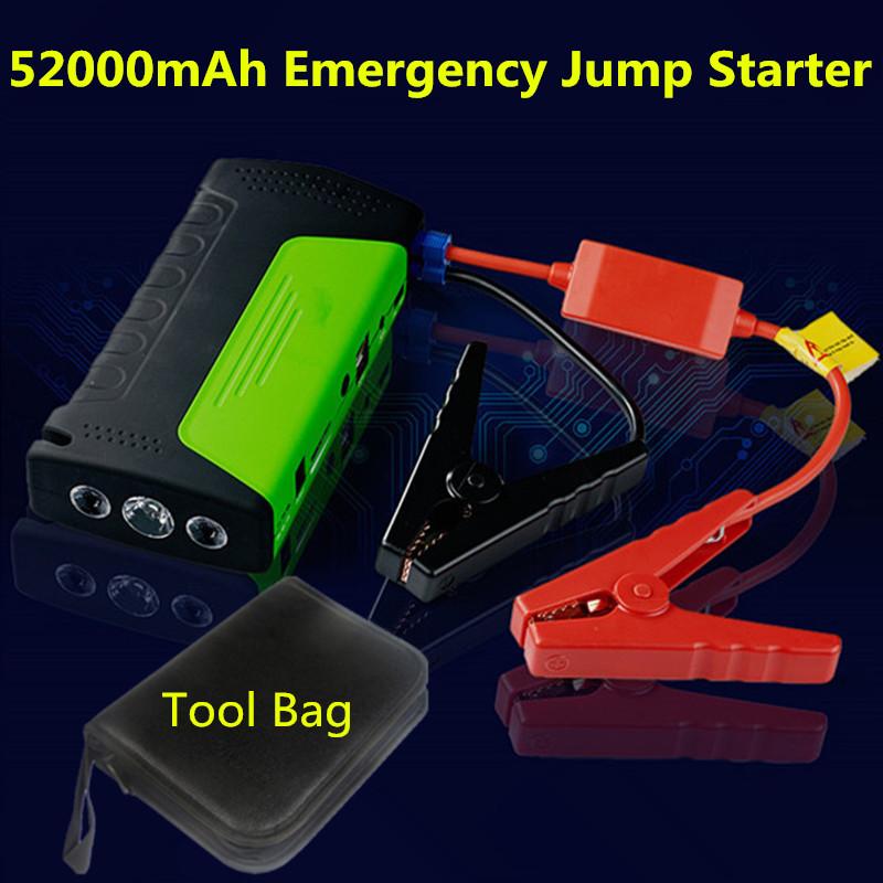 52000mAh Best Capacity Mini Multi-Function Gasoline Diesel Car Jump Starter Emergency Battery Charger Phone Laptop Power Bank <br><br>Aliexpress