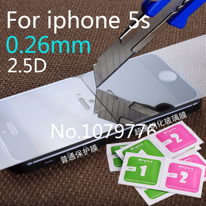 0.3mm 9h For iphone 5 Tempered Glass For iPhone 5s Screen Protector Toughened Protective Glass For iphone 5 Pelicula De Vidro