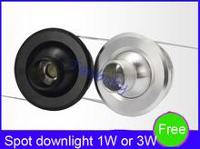 Led bull's-eye lights micro mini spotlights desk lamp kitchen cabinet wine cooler showcase ceiling light 1w3w(China (Mainland))