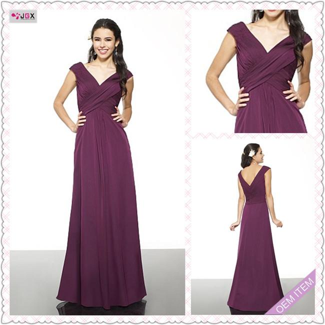 1508 1hs Eggplant Taffeta A Line Long Bridesmaid Dress In Bridesmaid Dresses
