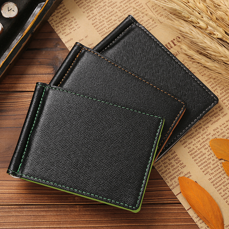 New PU Leather stainless steel money cash clip 3 color fashion money clip men wallet slim wallet money clip and cash clip(China (Mainland))