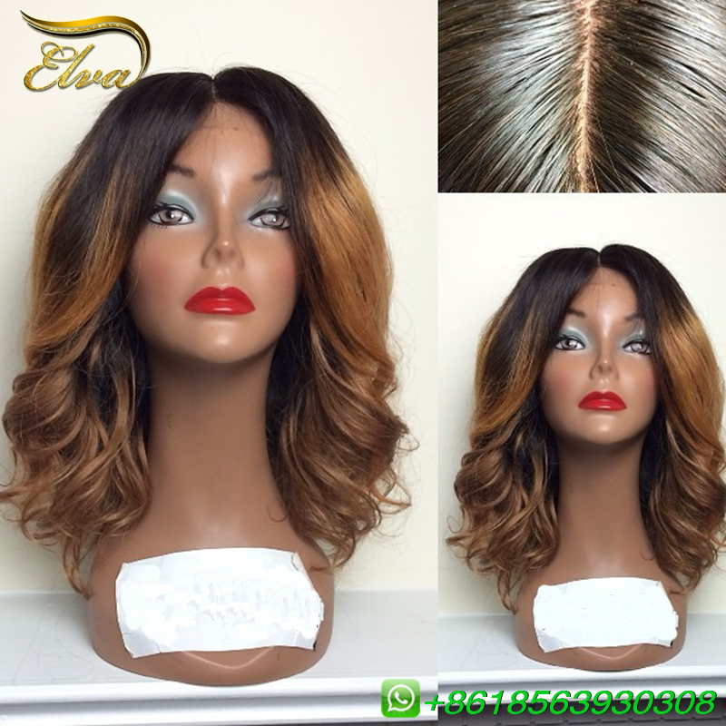 6A Beauty Ombre Lace Front Wig Brazilian Virgin Human Hair Glueless Two Tone Ombre Lace Wig Unprocessed Ombre Wig Free Shipping<br><br>Aliexpress