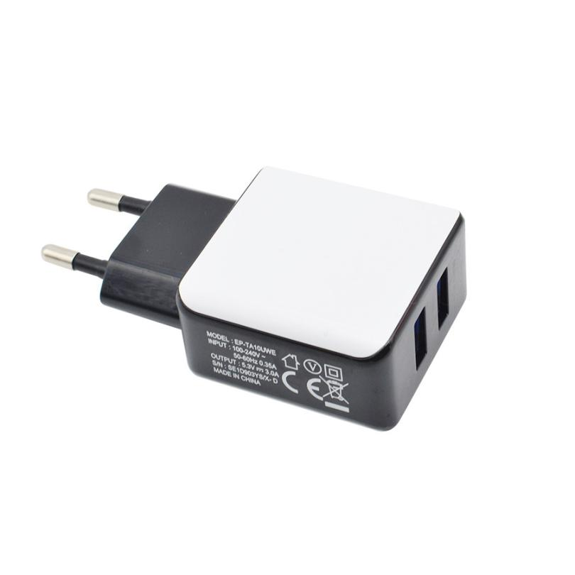 Charger 3A 2 Ports EU Plug USB Wall Travel AC Charger Adapter For Samsung Galaxy S7 Beautiful Gift High Quality Charger #2515(China (Mainland))