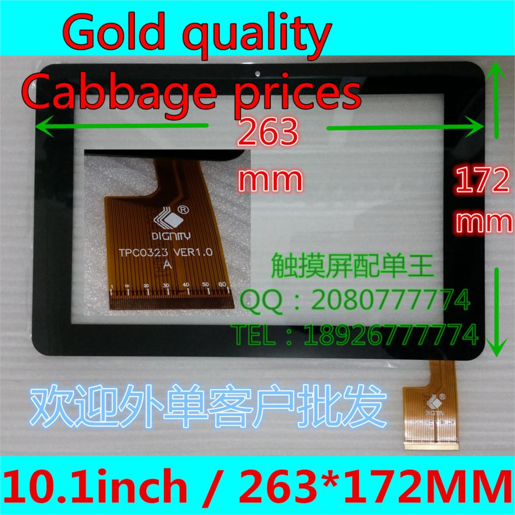 """10.1""""for Sanei N10 AMPE A10 Quad Core Tablet PC TPC0323 ver1.0 Touch Screen Digitizer 263*172mm Touch Pane black COLOR(China (Mainland))"""
