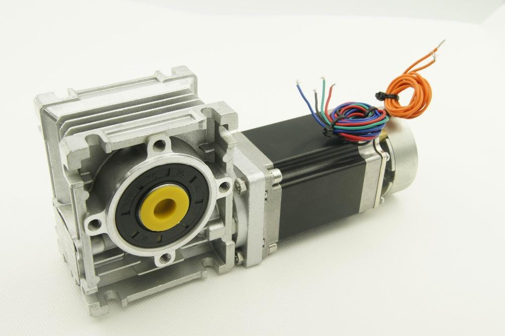 Cnc nema23 jingbo worm gear stepper motor with brake and for Nema 23 stepper motor brake