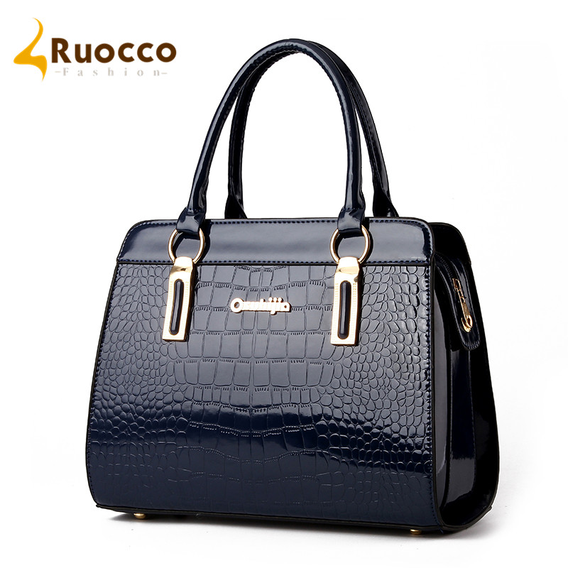 2016 New Fashion Women Handbag Brand Handbags Patent Leather Bags Women Messenger Bag Shoulder Bags Ruocco-52(China (Mainland))