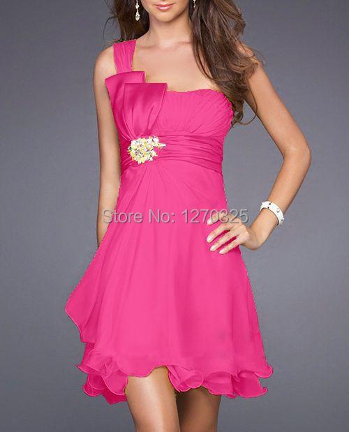 vestidos de madrinha 2016 new chiffon Lime green bridesmaid dress one shoulder brides maid dresses plus