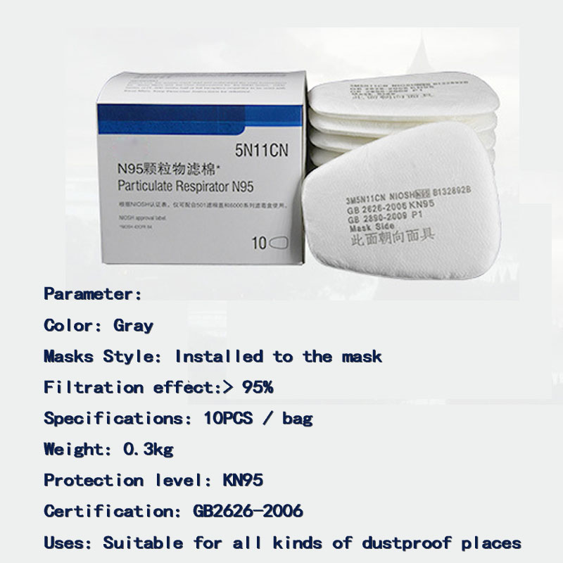 20PCS High-quality Raw Materials 6200 Dust Masks Paint Special Protective Mask Anti-dust Dust Filter Cotton