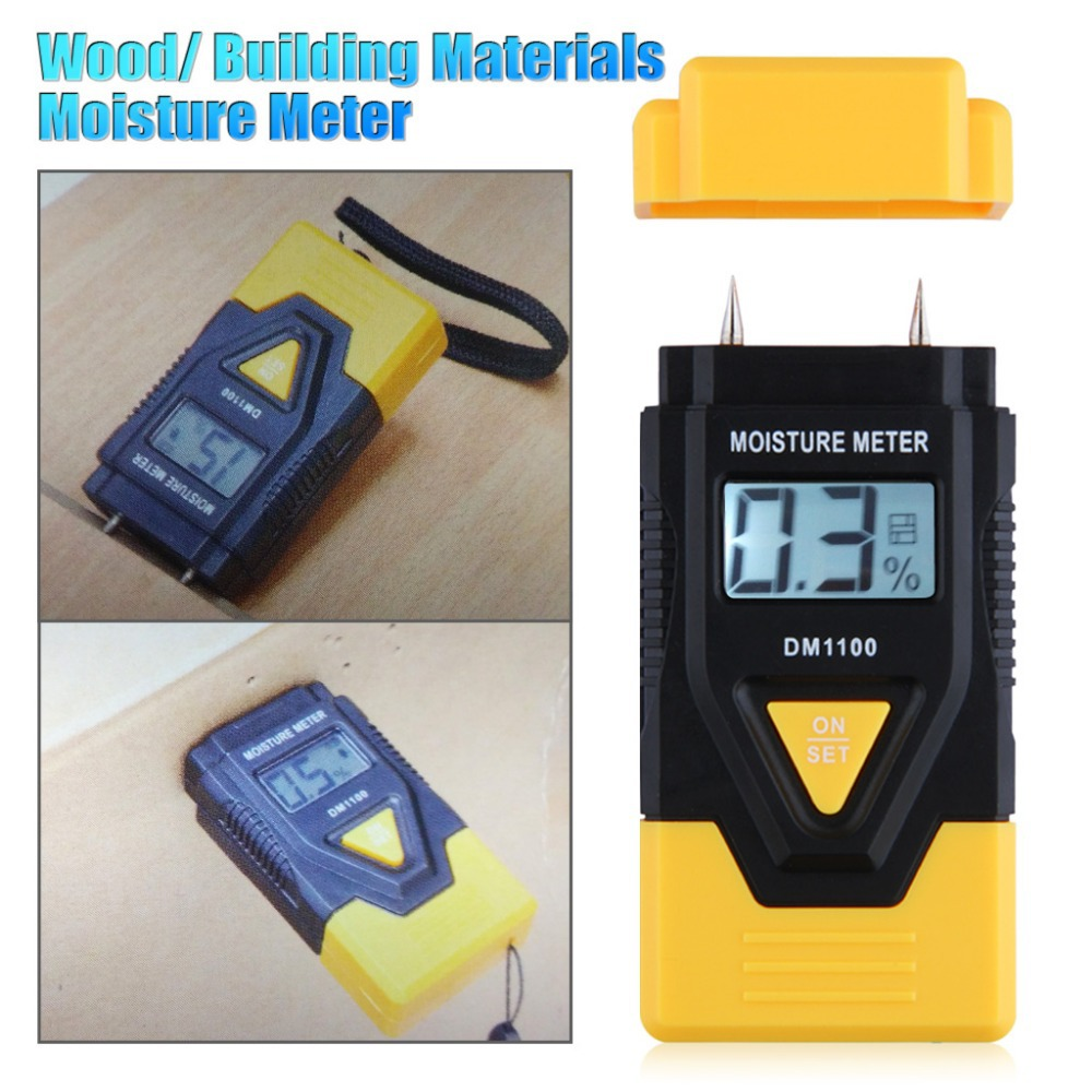3 IN 1 Digital Electronic Moisture Meter Wood/Building/Paper Moisture Meter with LCD Display Ambient Temperature Moisture Meter(China (Mainland))