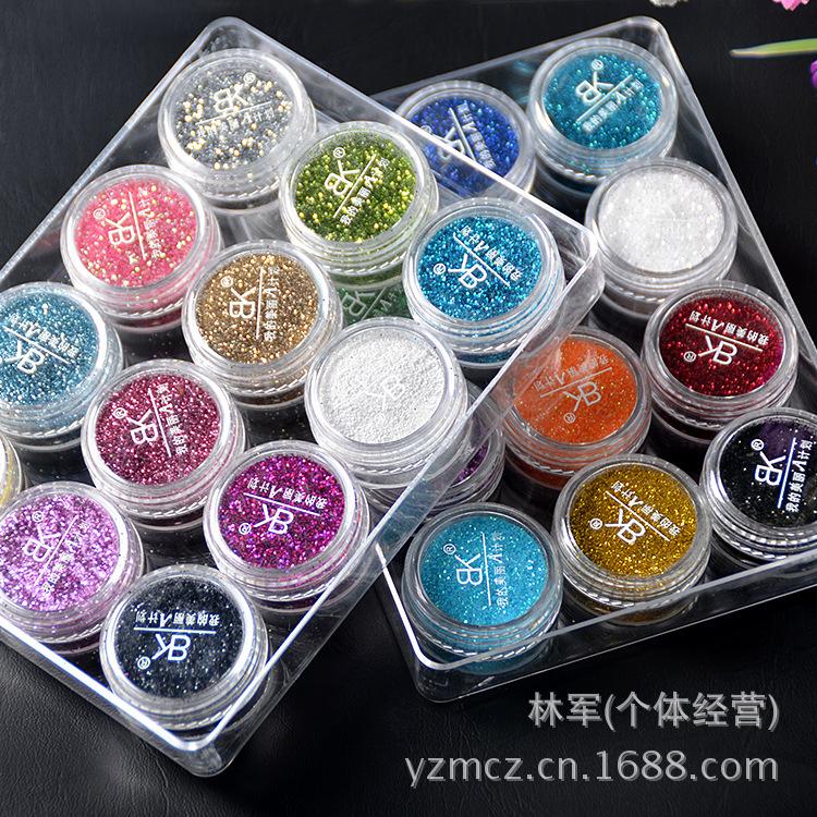BK nail supplies nail glitter / gradient nail glitter / sequins pink color set 24 color Acrylic Powder & Liquid(China (Mainland))