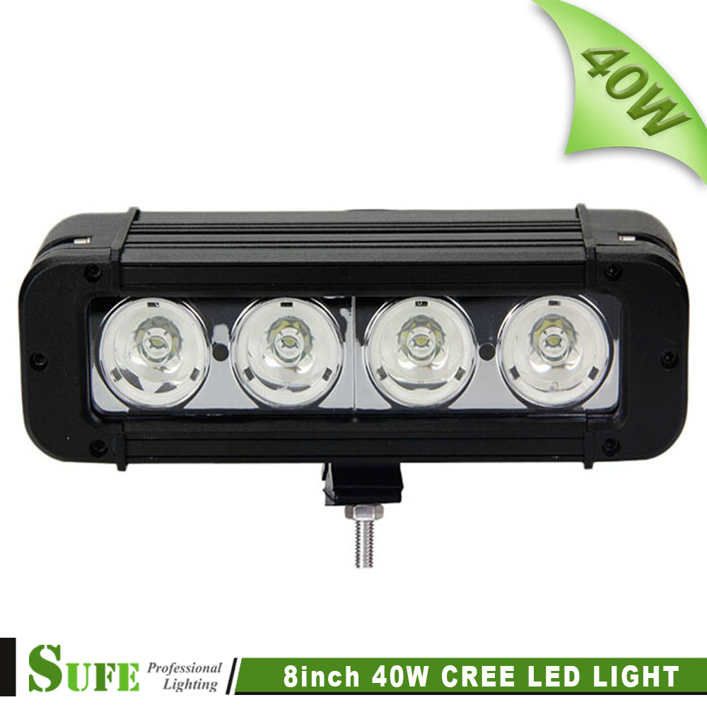 Free Shipping USA CREE LED 8'' 40W LED WORK LIGHT BAR SPOT FLOOD LIGHT OFFROAD 4WD BOAT UTE DRIVING WORK LIGHTS LED HEADLIGHTS