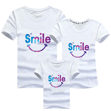 2017 New Family Matching Outfits T-shirt Clothes For Dad Mon Daughter and Son Summer Father and Son Suits Top Short Clothing(China (Mainland))
