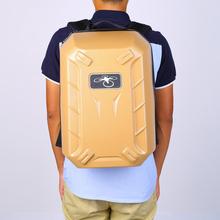 Professional Hard Backpack Shoulder Carrying Bag for DJI Wizard 3 Phantom 3 Standard FPV Drone Quadcopter Black&Gold
