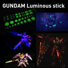 Free shipping action figures diy model fans anime peripheral gundam model eye patch paper luminous sticker 7*2.5cm action toys