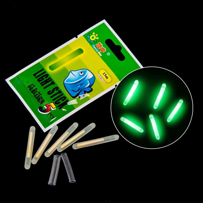 5 pcs new fishing float glow stick with a stick seat for Fishing glow sticks