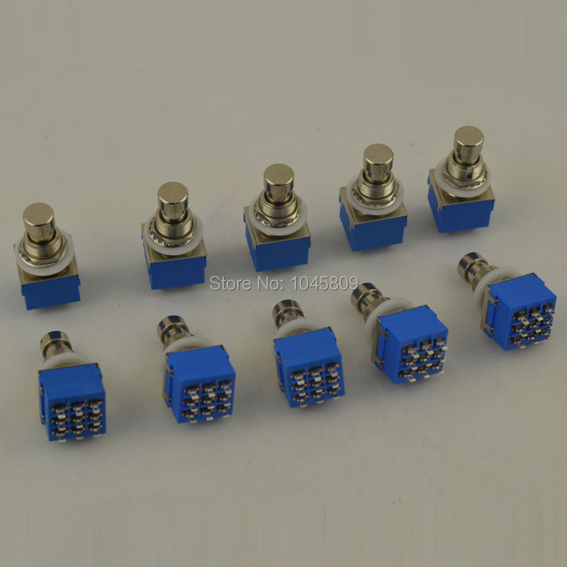 10 PCS/Lot Electric Guitar 3PDT Effects Stomp Foot Pedal Switch True Bypass 3PDT foot pedal switch with solder terminals(China (Mainland))